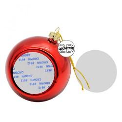 Palla natalizia Rossa da personalizzare 8cm
